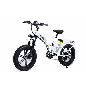 Green Bike Electric Motion Big Dog Off Road Fat Tire Foldable Electric Bike White