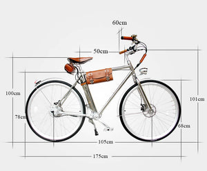 California Bicycle Factory Retro S Vintage Cruiser Electric Bike Dimensions