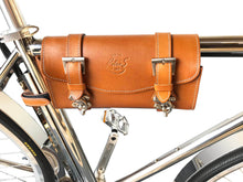 California Bicycle Factory Retro S Vintage Cruiser Electric Bike Italian Leather Saddle Bag