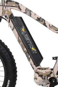 QuietKat Ambush Fat Tire Hunting Electric Mountain Bike 750 Watt Mid Drive Electric Motor Removable Battery Pack