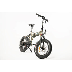 BackCountry eBikes Stalker 750 Foldable Fat Tire Hunting Electric Bike Camo