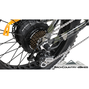 BackCountry eBikes Stalker Foldable Fat Tire Hunting Electric Bike Derailleur
