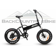 BackCountry eBikes Stalker Foldable Fat Tire Hunting Electric Bike Matte Black