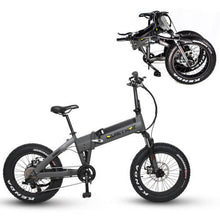 QuietKat Bandit Foldable Hunting Fat Tire Electric Bike 750 Watt Hub Drive Electric Motor Charcoal