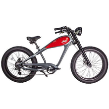 Civi Bikes Cheetah - The Cafe Racer Fat Tire Cruiser Electric Bike 750 Watt Brushless Electric Motor Red