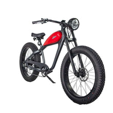 Civi Bikes Cheetah - The Cafe Racer Fat Tire Cruiser Electric Bike 750 Watt Brushless Electric Motor Platinum Grey