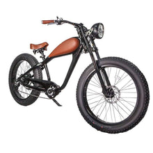 Civi Bikes Cheetah - The Cafe Racer Fat Tire Cruiser Electric Bike 750 Watt Brushless Electric Motor Night Black