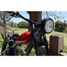 Civi Bikes Cheetah - The Cafe Racer Fat Tire Cruiser Electric Bike 750 Watt Brushless Electric Motor Head Light