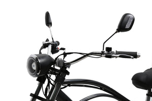 California Bicycle Factory Eagle Electric Fat Tire Beach Cruiser Bicycle Mirrors and Headlight