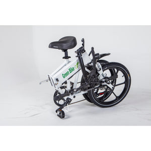 Green Bike USA GB Smart Foldable Full Suspension Electric Bike 350 Watt Brushless Electric Motor 36 Volt 10.4Ah Samsung Battery Folded