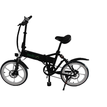Green Bike USA GB Smart Foldable Full Suspension Electric Bike 350 Watt Brushless Electric Motor 36 Volt 10.4Ah Samsung Battery Black Silver Rims