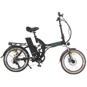 Green Bike USA GB500 Foldable Cruiser Electric Bike Black