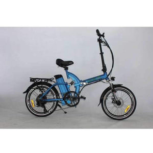 Green Bike USA GB500 Foldable Cruiser Electric Bike Blue