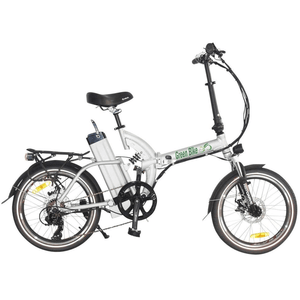 Green Bike USA GB500 Foldable Cruiser Electric Bike Silver