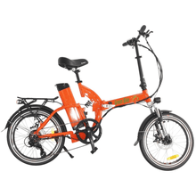 Green Bike USA GB500 Foldable Cruiser Electric Bike Orange