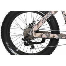 QuietKat Ranger Fat Tire Hunting Electric Mountain Bike 750 Watt Rear Hub Drive Motor Camo Derailleur