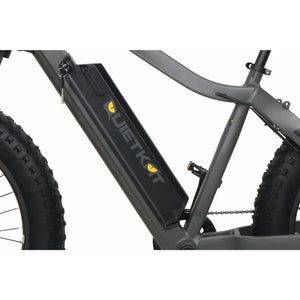 QuietKat Ranger Fat Tire Hunting Electric Mountain Bike 750 Watt Rear Hub Drive Motor Removable Panasonic Lithium Ion Battery Charcoal