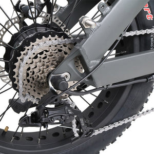 QuietKat Bandit Foldable Hunting Fat Tire Electric Bike 750 Watt Hub Drive Electric Motor Derailleur