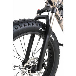 QuietKat Ranger Fat Tire Hunting Electric Mountain Bike 750 Watt Rear Hub Drive Motor Front Forks