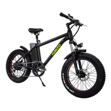 "Nakto 20"" Mini Cruiser Fat Tire Electric Bike Black"
