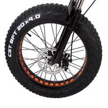 "Nakto 20"" Mini Cruiser Fat Tire Electric Bike Wheel"