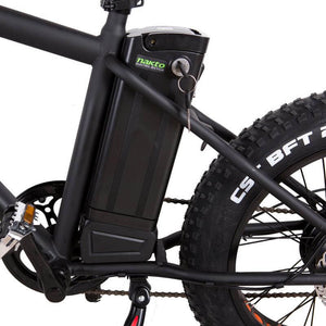 "Nakto 20"" Mini Cruiser Fat Tire Electric Bike Ignition"