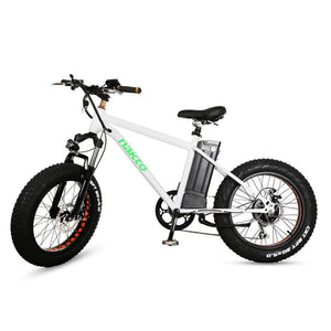 "Nakto 20"" Mini Cruiser Fat Tire Electric Bike White"