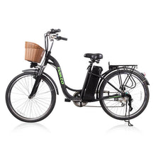 "Copy of Nakto Camel Women 26"" City Electric Bike 250 Watt Brushless Rear Hub Electric Motor Black Plastic Basket"