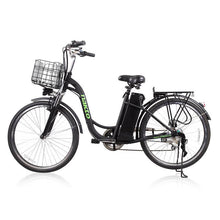 "Copy of Nakto Camel Women 26"" City Electric Bike 250 Watt Brushless Rear Hub Electric Motor Black Steel Basket"