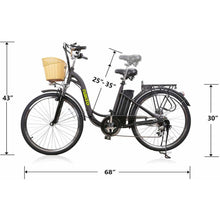 "Copy of Nakto Camel Women 26"" City Electric Bike 250 Watt Brushless Rear Hub Electric Motor Sizes"