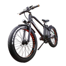 "Nakto Super Cruiser 26"" Fat Tire Electric Bike 500 Watt Rear Hub Electric Motor Black"