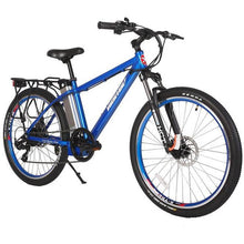 X-Treme Trail Maker Elite 24 Volt Electric Mountain Bike 300 Watt Rear Hub Motor Metallic Blue