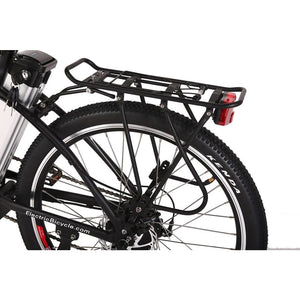 X-Treme Trail Maker Elite 24 Volt Electric Mountain Bike 300 Watt Rear Hub Motor Pannier Rack