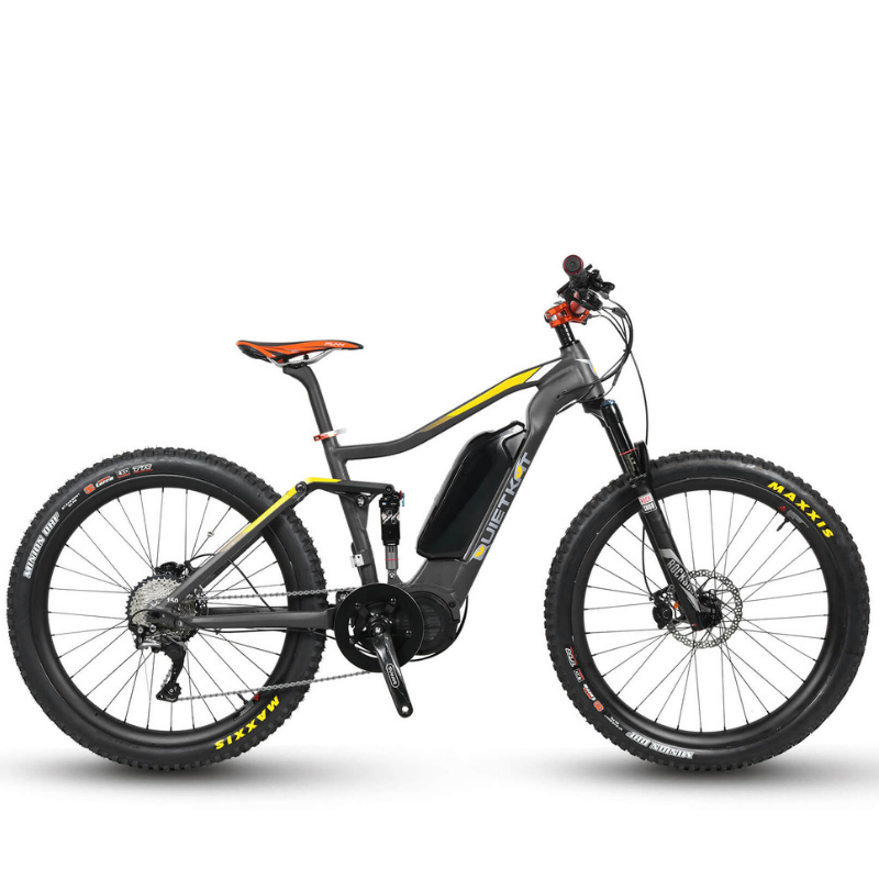 QuietKat Quantum Electric Mountain Bike Charcoal