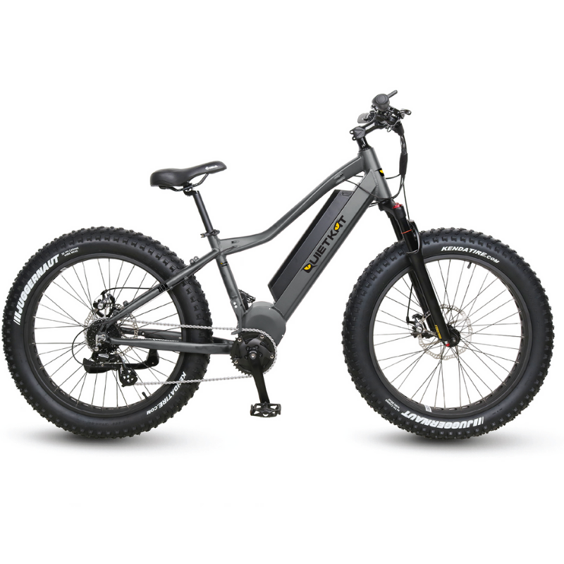 QuietKat Zion Fat Tire Hunting Electric Mountain Bike 750 Watt Mid Drive Electric Motor Charcoal