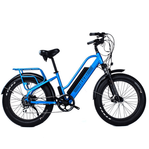 Biktrix Stunner LT Step-Through City Cruiser 750 Watt Hub Drive Electric Bike Classic Blue