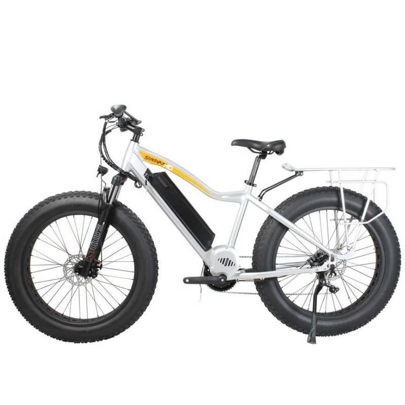 Biktrix Juggernaut Classic HD Fat Tire Electric Mountain Bike Quick Silver 1000 Watt Mid Drive Electric Motor
