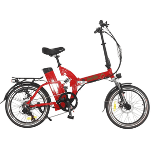 Green Bike USA GB500 Foldable Cruiser Electric Bike Red