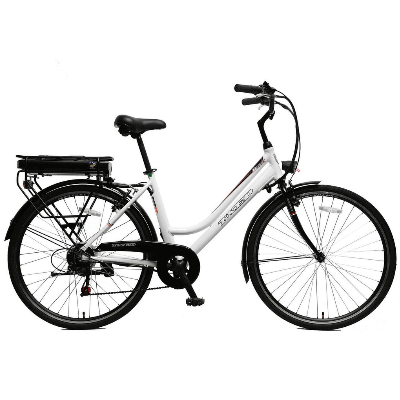 California Bicycle Factory Step-Through Electric City Bike 700C 350 Watt Rear Hub Electric Motor