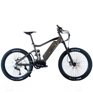 QuietKat RidgeRunner Hunting Electric Mountain Bike 1000 Watt Ultra Mid Drive Electric Motor Charcoal