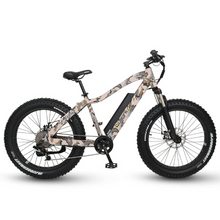 QuietKat Ranger Fat Tire Hunting Electric Mountain Bike 750 Watt Rear Hub Drive Motor Camo