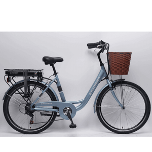 California Bicycle Factory E-Pioneer Step-Through Electric City Bike