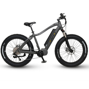 QuietKat Predator Fat Tire Hunting Electric Mountain Bike 1000 Watt Mid Drive Electric Motor Charcoal