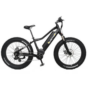 QuietKat Canyon Fat Tire Electric Mountain Bike 1000 Watt Mid Drive Electric Motor Black