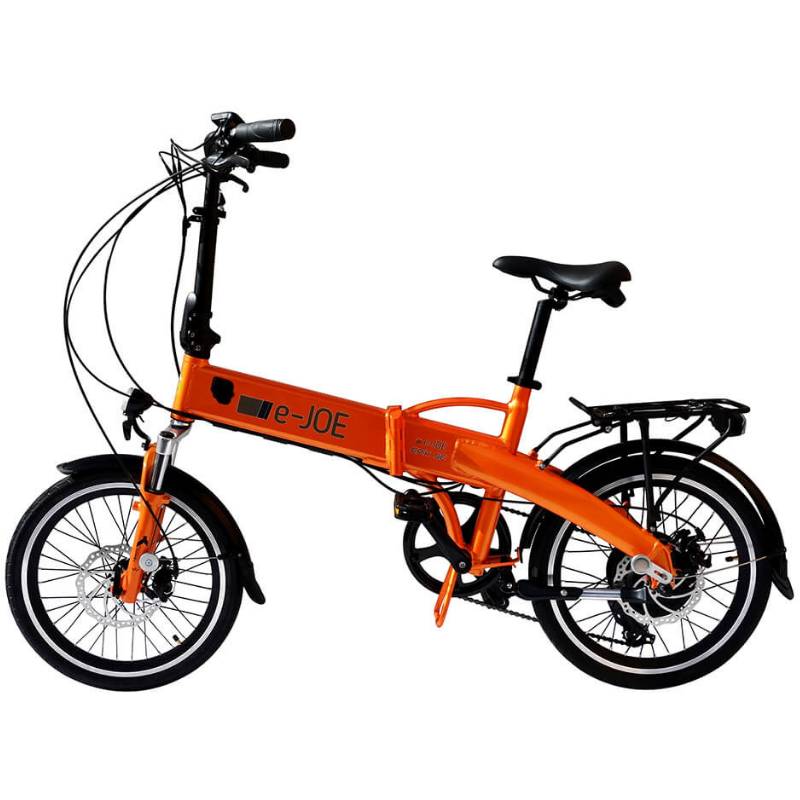 E-Joe EPIK SE Electric Foldable Bike 500 Watt Brushless Rear Hub Electric Motor Tangerine
