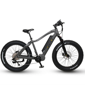QuietKat Apex Fat Tire Electric Mountain Bike 1000 Watt BBSHD Mid Drive Electric Motor Charcoal