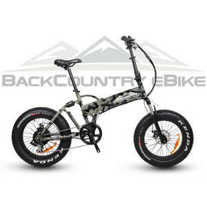 BackCountry eBikes Stalker Foldable Fat Tire Hunting Electric Bike Kuiu Verde Camo