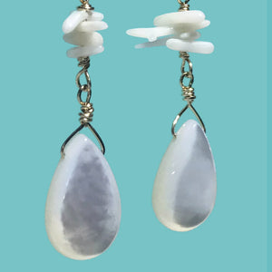 [SURF JEWELLERY] White Shell Drop x Little Corals (1-2-A)
