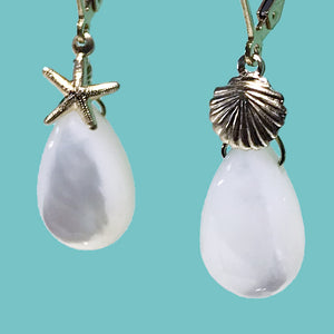 [SURF JEWELLERY] White Shell x Gold Shell & Sea Star (1-3-B)