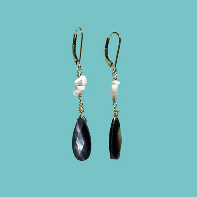 [SURF JEWELLERY] Black Cut Shell x Little White Shells (1-4-B)
